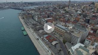 Haliçport, Galataport ve Perşembe Pazarı arazisini havadan görüntüledik