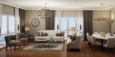 Gönye Tasarım'dan Nidapark Başakşehir'e örnek daire