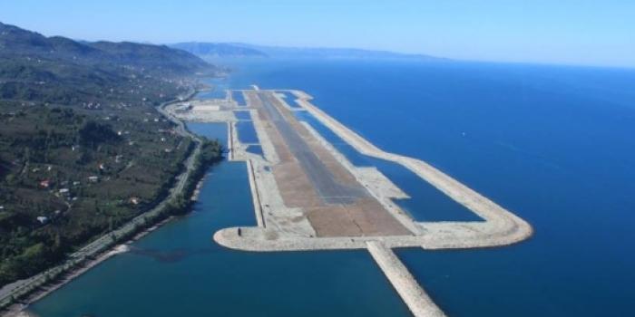 Rize havalimanı inşaatı