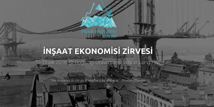 İnşaat Ekonomisi Zirvesi 13 Ocak'ta yapılacak