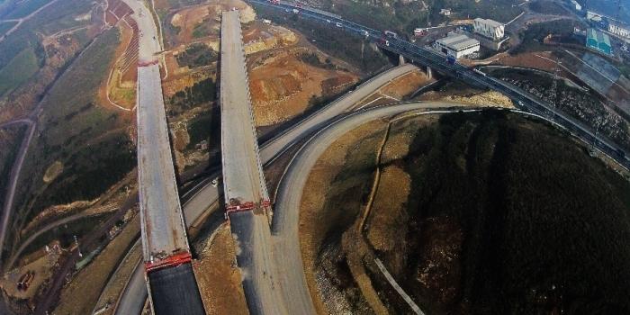 İstanbul izmir otoyolu inşaatı