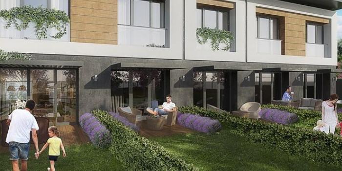 Terrace hayat dubleks daire