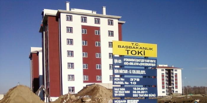 TOKİ'den Afyonkarahisar Şuhut'a 412 konut