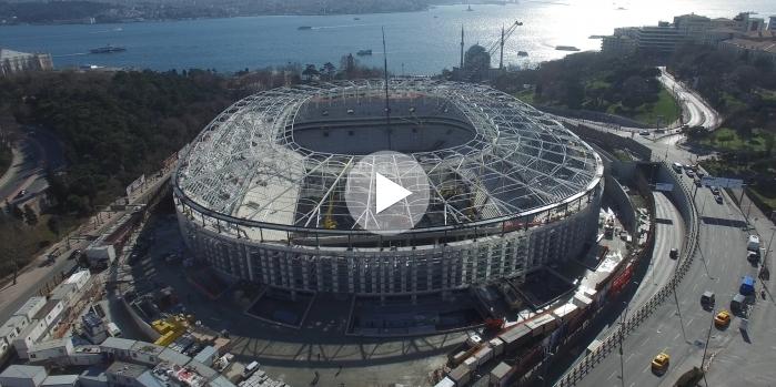 Vodafone arena inşaat çalışmaları