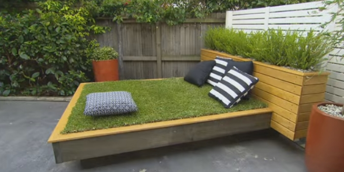 Çim yatak yapımı