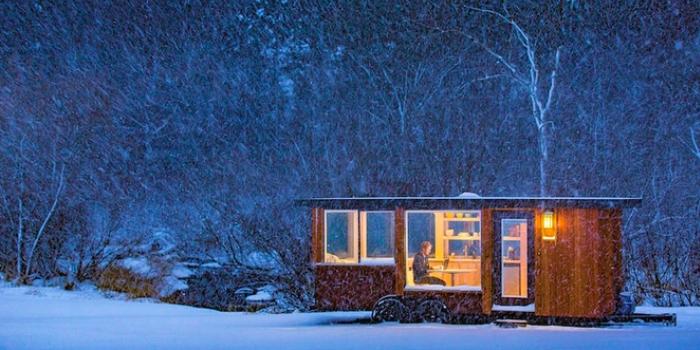 Kışı geçirmek isteyeceğiniz 14,8 metrekarelik taşınır ev