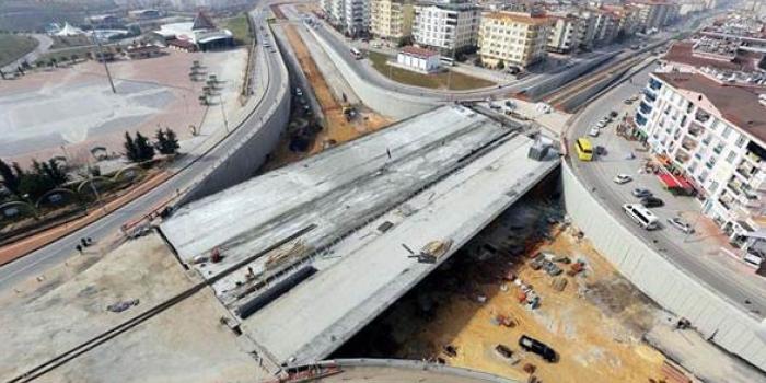 Gaziantep Karataş Köprülü Kavşak çalışmasında sona doğru