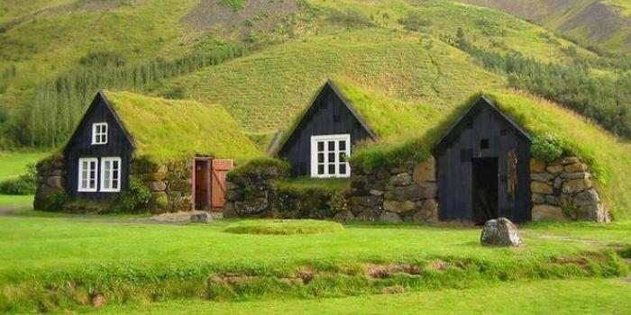 İzlanda çim evler