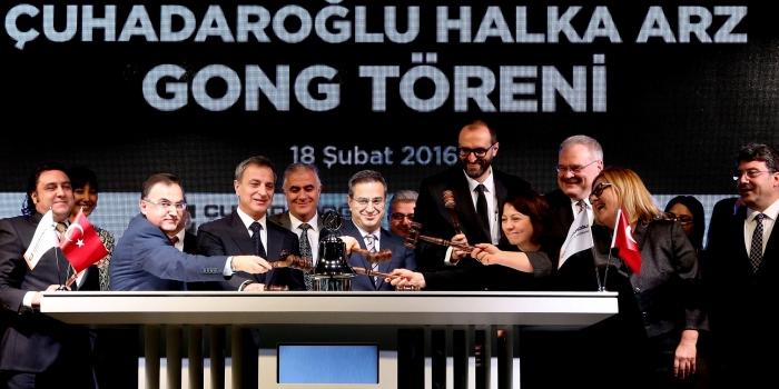 Çuhadaroğlu Borsa İstanbul'a merhaba dedi