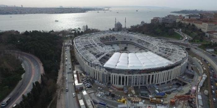 Beşiktaş vodafone arena tribün inşaatı