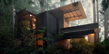 Amerikalı mimarın 60 yıldır üzerinde çalıştığı orman evi
