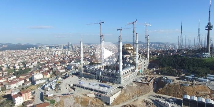 Çamlıca camii inşaatı