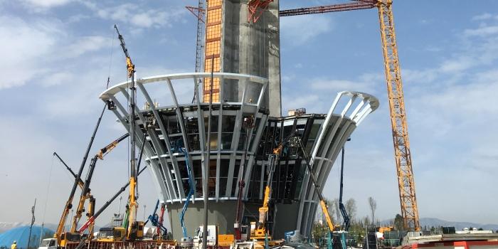 Antalya Expo 2016 Kulesi'nin yapımı sürüyor