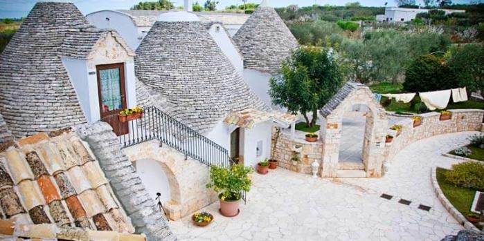 İtalya trulli evleri