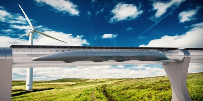 Uçağın karadaki rakibi Hpyerloop'un ilk testi yapıldı