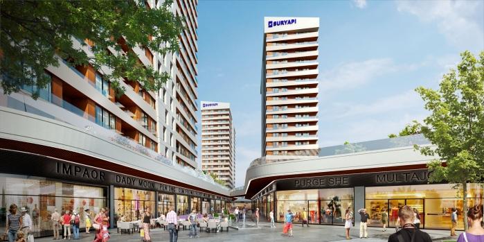 Sur Yapı Mirage'da Cadde Mağazaları satışa çıkıyor