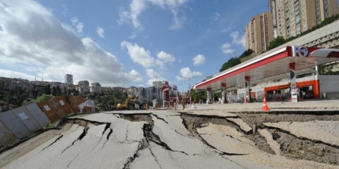 Ankara Büyükşehir Belediyesi'nden çöken yol açıklaması