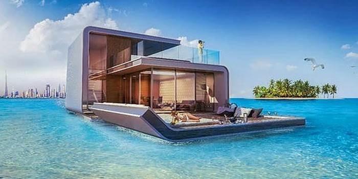 Dubai'nin yüzen evleri suya indi! Fiyatlar 2.7 milyon dolardan başlıyor!