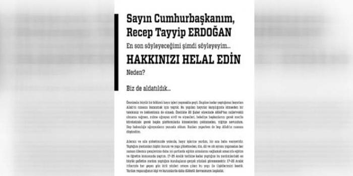 Dumankaya Ailesi: Sayın Cumhurbaşkanım, hakkınızı helal edin