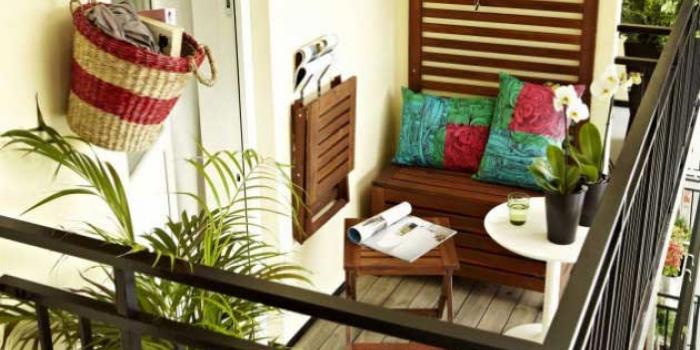 Küçük balkon dekorasyonu