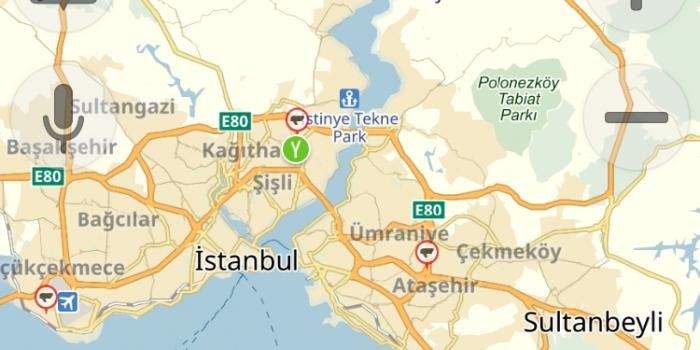 3. Köprü Yandex.Navigasyon'da
