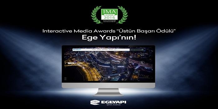 Ege Yapı'nın internet sitesine üstün başarı ödülü