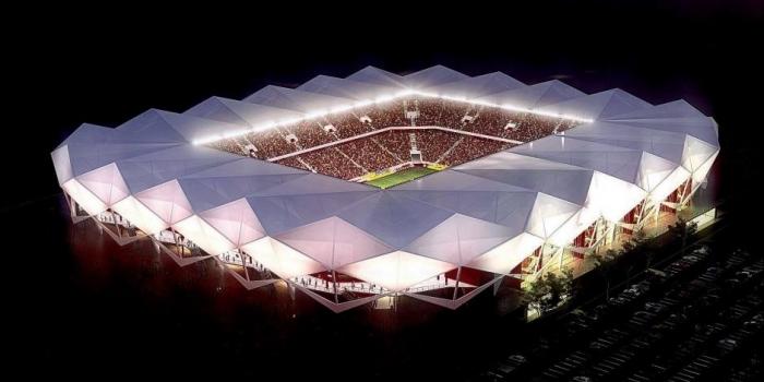 Trabzon akyazı stadı çatı sistemi