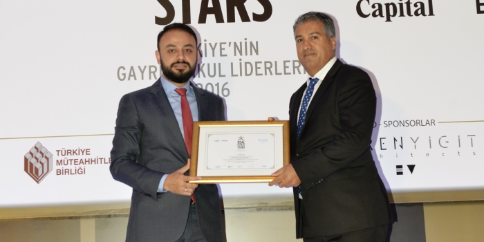 Yiğit İDK Group'a Real Estate Stars'tan ödül