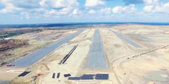 3. Havalimanı'nın ilk pisti görüntülendi