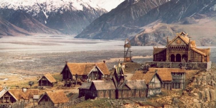 Yüzüklerin Efendisi filminden görkemli şehirler