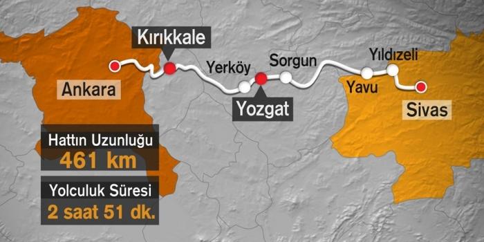 Ankara Sivas hızlı tren hattı 2018 yılında açılacak