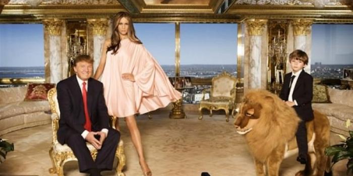ABD'nin yeni başkanı Donald Trump'ın altın kaplama evi
