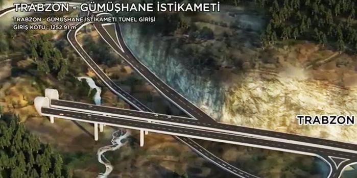 Avrupa'nın en uzun tüneli Trabzon ile Gümüşhane'yi buluşturacak