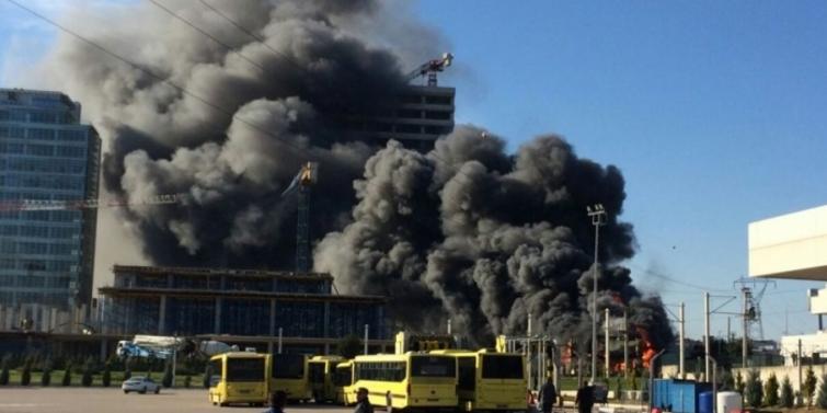 Bursa'da inşaat şantiyesinde yangın: 1 ölü