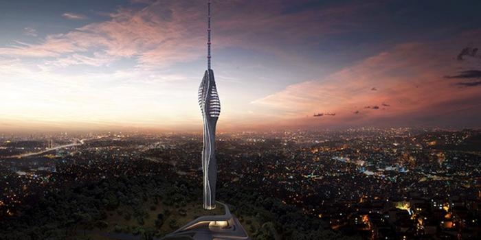 Çamlıca Kulesi'nin 95 metresi tamamlandı