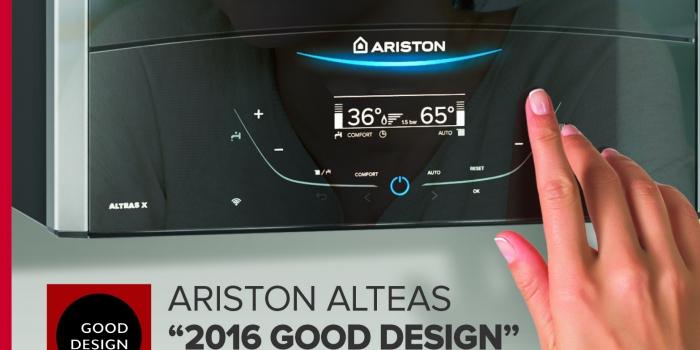Ariston yeni kombisi ile 2016 GOOD DESIGN ödülünü kazandı