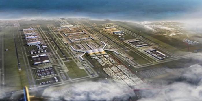 Üçüncü havalimanı ilk etap inşaatı yüzde 40'lara ulaştı