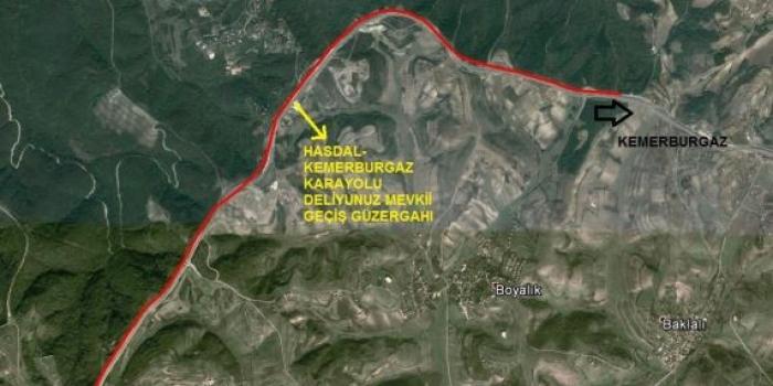 Arnavutköy Deliyunus karayolu geçişi imar planı askıya çıktı