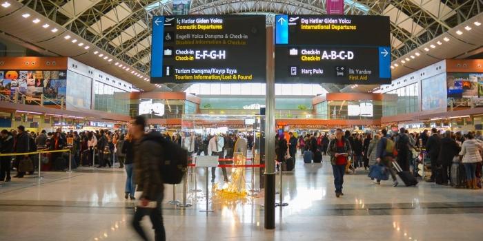 Havalimanı yolcu oranları arttı