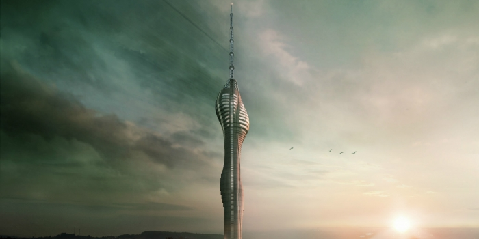 Çamlıca Tv Radyo Kulesi'nin inşası devam ediyor