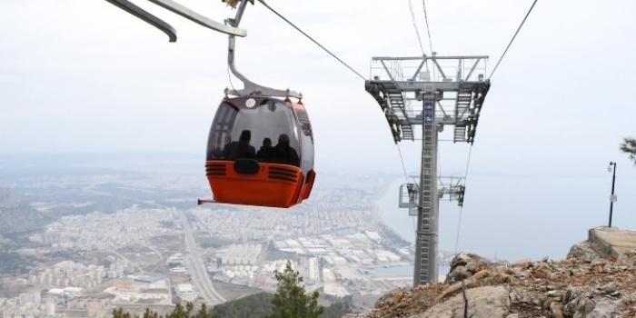 Antalya Tünektepe Teleferik hattı açıldı