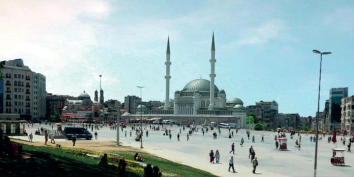 Taksim Meydanı'na yapılacak caminin ilk görüntüleri!