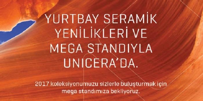 Yurtbay Seramik yeni ürünleriyle Unicera'da