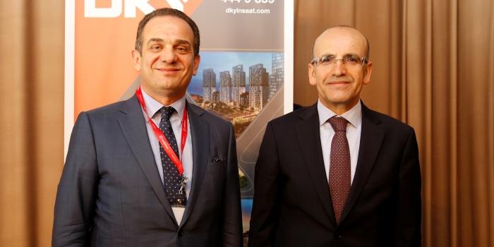 Mehmet Şimşek inşaatçılarla buluştu