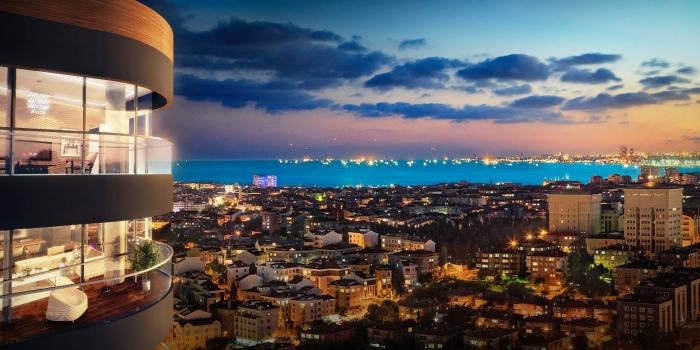 The Mandarins Acıbadem'den panoramik İstanbul manzarası