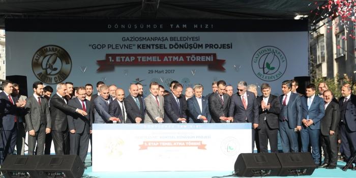 Gaziosmanpaşa dönüşümünün sembolü GOP Plevne'de temeller atıldı