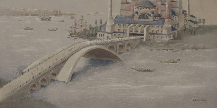Haliç'e Leonardo da Vinci Köprüsü