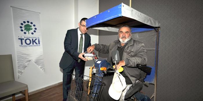 Toki Sivas'ta 26 engelli vatandaşı konut sahibi yaptı