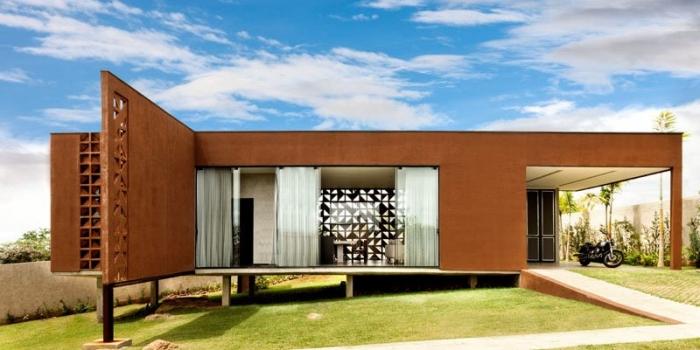 Cobogo bloklarıyla ev inşa ettiler
