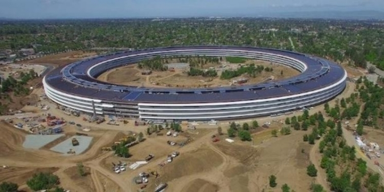 Apple Park'ın son hali görüntülendi